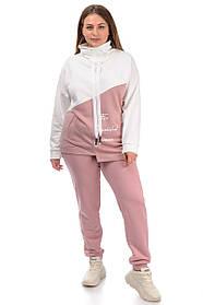 Свитшот  00340 розовый, молочный 48-58
