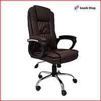 Кресло офисное Avko Style компьютерное кожаное кресло с механизмом качания tilt кресло качественное коричневое