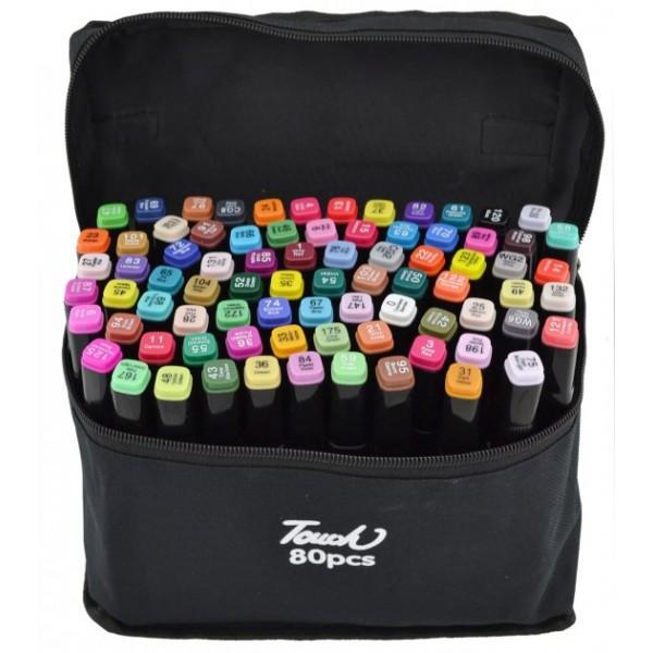 Набор двусторонних скетч-маркеров для рисования 80 штук