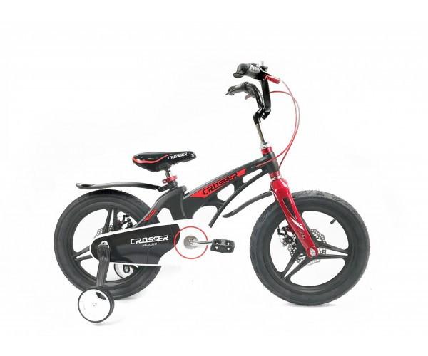 """Двоколісний велосипед Crosser Premium магнієва рама 16"""" Чорний (n-612)"""