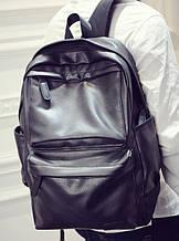 Вместительный мужской рюкзак эко кожа