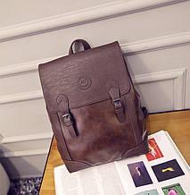 Винтажный мужской рюкзак эко кожа