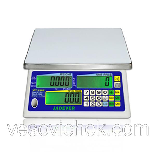 Торгові ваги Jadever РТ-1506 (15 кг)