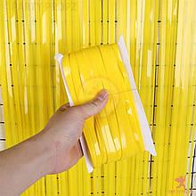 Фольгована шторка жовтий 1,2*3 метри