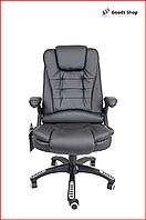 Кресло офисное Avko Style компьютерное кожаное кресло с механизмом качания tilt кресло качественное черное