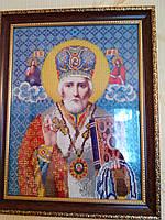 Икона Св. Николай Чудотворец, вышитая бисером, ручная работа