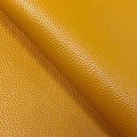 Натуральная галантерейная кожа  ФЛЕШ, Манго, Pantone 15-1049, фото 1