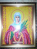 Икона Св. Мученица Татиана, вышита бисером