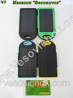 Зарядное устройство для смартфона с солнечной панелью 5000 ma/h (пыле – влагозащищенное) Желтый
