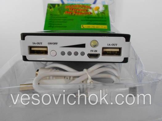 Зарядное устройство с солнечной панелью для планшета 12000 ma\h (USB 1x1A, 1x2A)