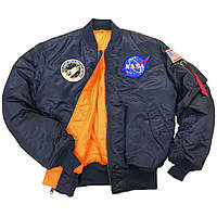 NASA MA-1 FLIGHT JACKET (Альфа Индастри) Куртка ветровка мужская наса флайт жакет
