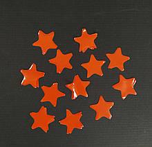 Аксесуари для свята конфеті Конфеті зірка оранжева 100 грам