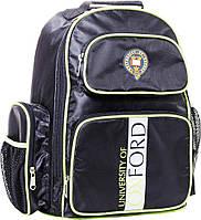 Школьный, молодежный рюкзак с вентилируемой спинкой 16 л. Oxford G080 551873 черный