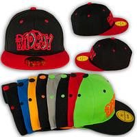 """Модная кепка для подростка с прямым козырьком """"Bad boy"""""""
