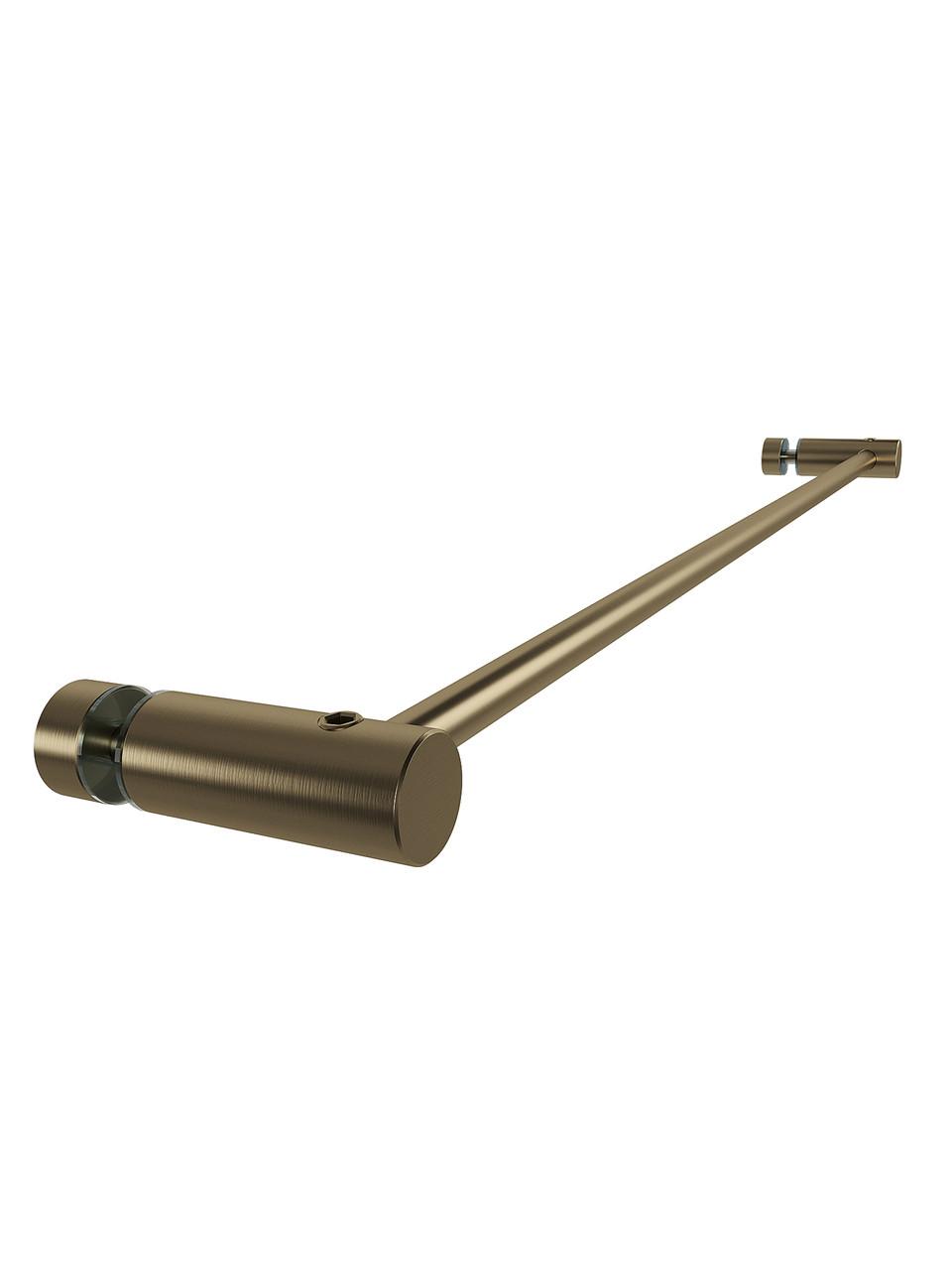 ODF-13-01-30-L600 Полотенцедержатель 600мм без ручки дверей душової кабіни, колір матова бронза