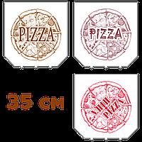 Коробки для пиццы, 350х350х37, с логотипом, белые