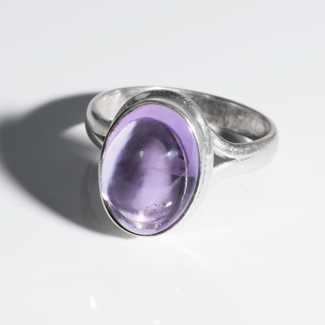 Аметист серебряное кольцо, 2786КЦА