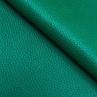 Натуральная галантерейная кожа  ФЛЕШ, Зеленый, Pantone 18-6030, фото 1