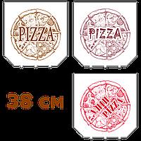 Коробки для пиццы, 380х380х37, с логотипом, белые