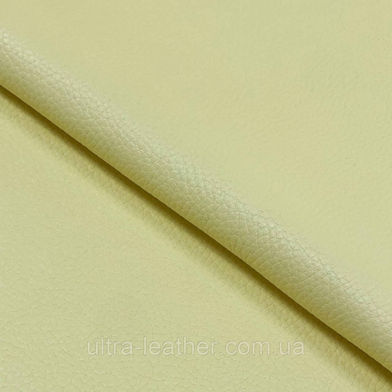Натуральная галантерейная кожа  ФЛЕШ, Желтый, Pantone 12-0824