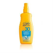 Сонцезахисний бірюзовий лосьйон-спрей для дитячої шкіри SPF 30. Avon Care Sun+ Kids 150 мл 92839