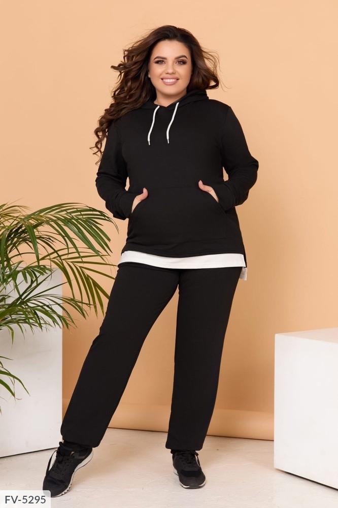 Спортивний костюм жіночий з імітацією сорочки