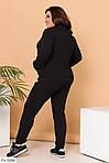 Спортивний костюм жіночий з логотипом-накаткою (Батал), фото 2