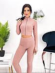 Жіночий костюм двійка: лосини + укорочений топ, фото 8