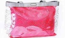 Эксклюзивная прозрачная розовая сумка Mary Kay 2 в 1