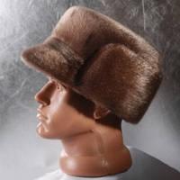 Мужская меховая шапка Конфедератка из нерпы