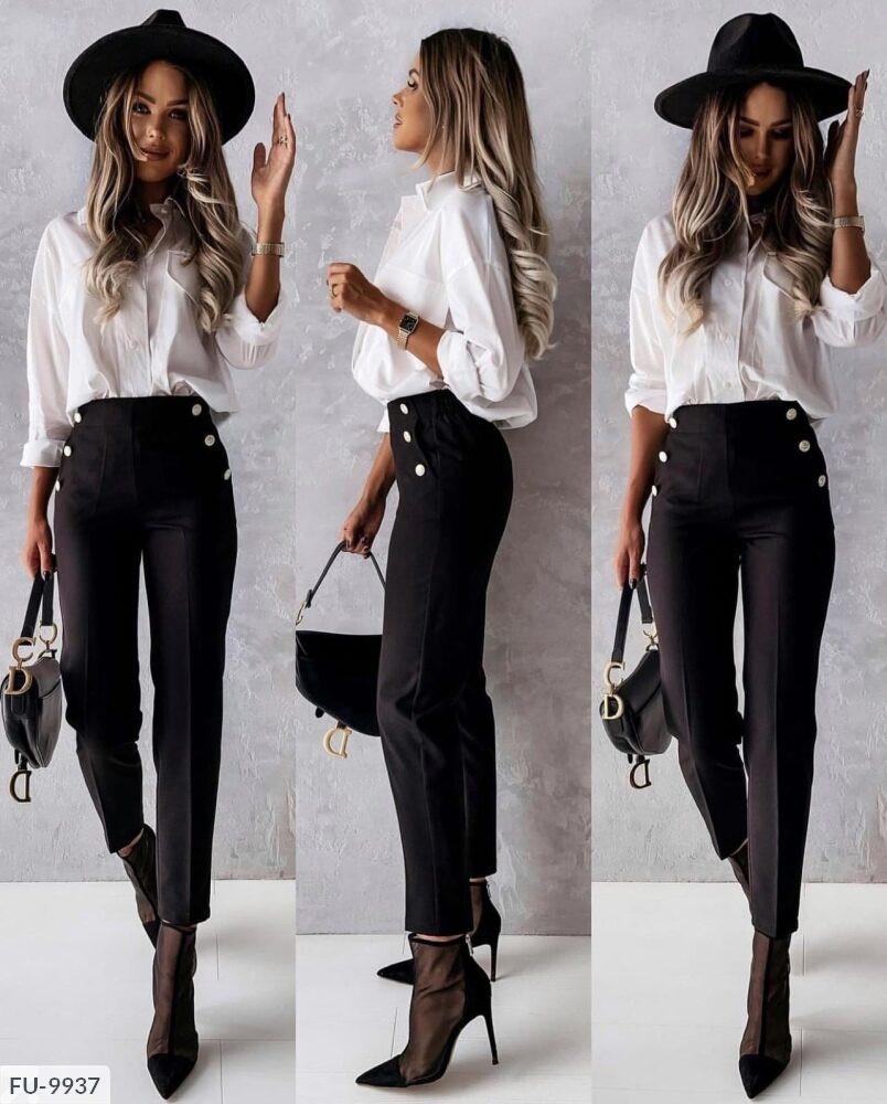 Жіночі брюки з високою посадкою