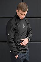 Мужская осенняя ветровка Air Jordan Tech Jacket Черная
