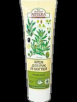 """Зеленая Аптека Крем для рук и ногтей """"Оливковый"""" питательный и защитный 100 мл"""