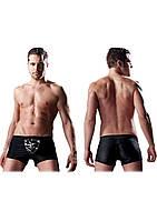 Боксеры со съемным клапаном черные Male Beefy Brief, S/M