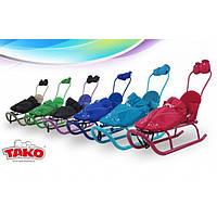Детские санки с толкателем Tako Grand  (разные цвета)
