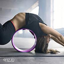 Колесо для йоги та фітнесу 4FIZJO Dharma Pink, фото 2