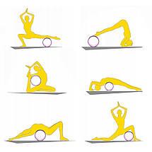 Колесо для йоги и фитнеса 4FIZJO Dharma XXL Yellow, фото 3