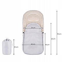 Дитячий конверт для коляски, санок 4 в 1 Springos SB0035 Grey, фото 2