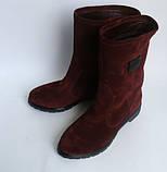 Стильні чоботи з натуральної замші Різні кольори, фото 2
