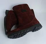 Стильні чоботи з натуральної замші Різні кольори, фото 3