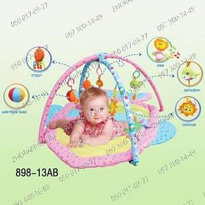 Многофункциональный коврик Bambi (Metr+) 898-13B,Детский коврик,Развивающий,Музыкальный,форма Рыбка