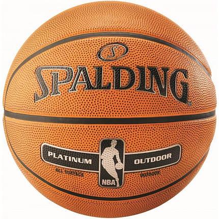 М'яч баскетбольний Spalding NBA Platinum Outdoor Size 7, фото 2