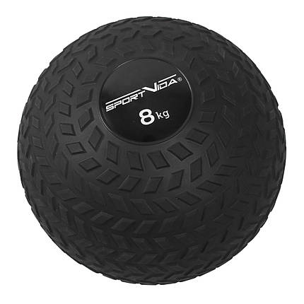 Слэмбол (медицинский мяч) для кроссфита SportVida Slam Ball 8 кг SV-HK0350 Black, фото 2