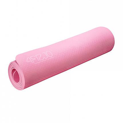 Килимок (мат) для йоги та фітнесу 4FIZJO TPE 6 мм 4FJ0152 Pink, фото 2