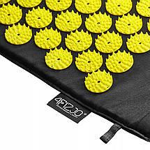 Коврик акупунктурный с валиком 4FIZJO Аппликатор Кузнецова 128 x 48 см 4FJ0087 Black/Yellow, фото 2