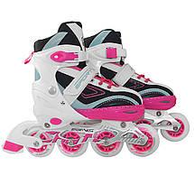 Роликовые коньки SportVida 4 в 1 SV-LG0031 Size 31-34 Pink/Blue, фото 3