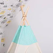 Детская палатка (вигвам) Springos Tipi XXL TIP04 White/Mint, фото 3
