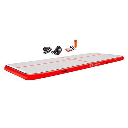 Мат гімнастичний надувний 4FIZJO Air Track Mat 600 x 200 x 20 см 4FJ0204, фото 2