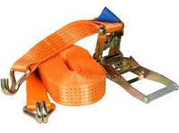 Стяжные ремни с крюками 0,8т, ширина ленты 28мм