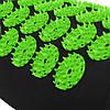 Килимок акупунктурний з валиком SportVida Аплікатор Кузнєцова 130 x 50 см SV-HK0353 Black/Green, фото 6